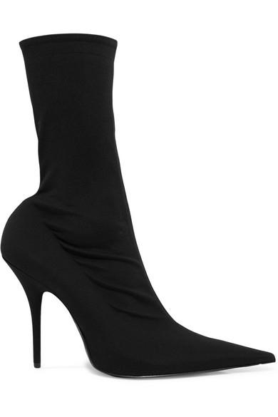 Black sock boots