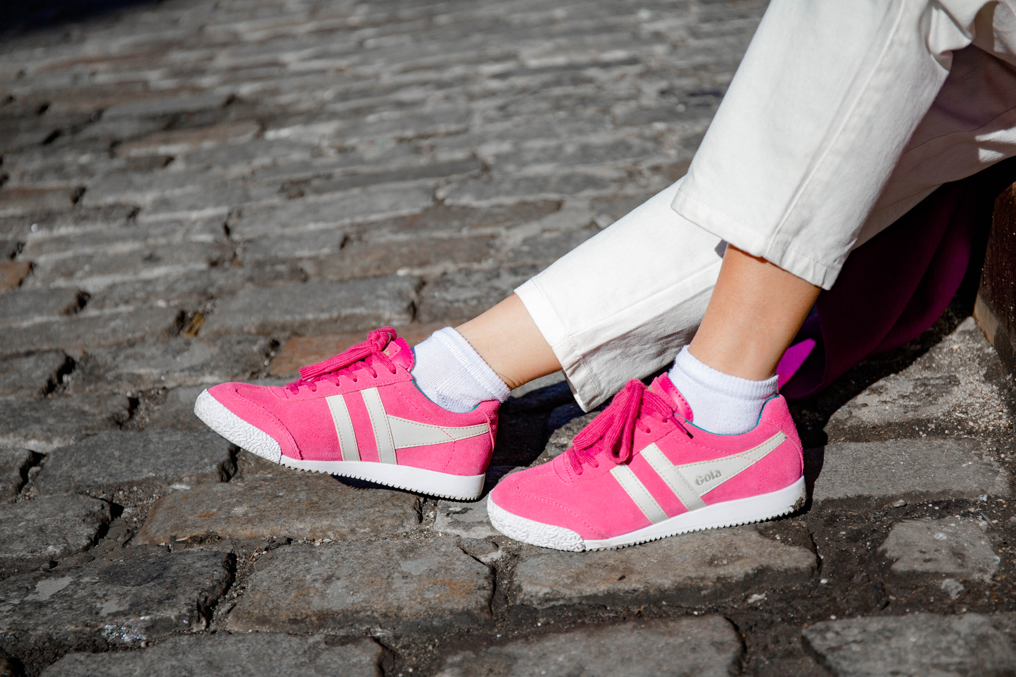 Magenta athletic sneakers