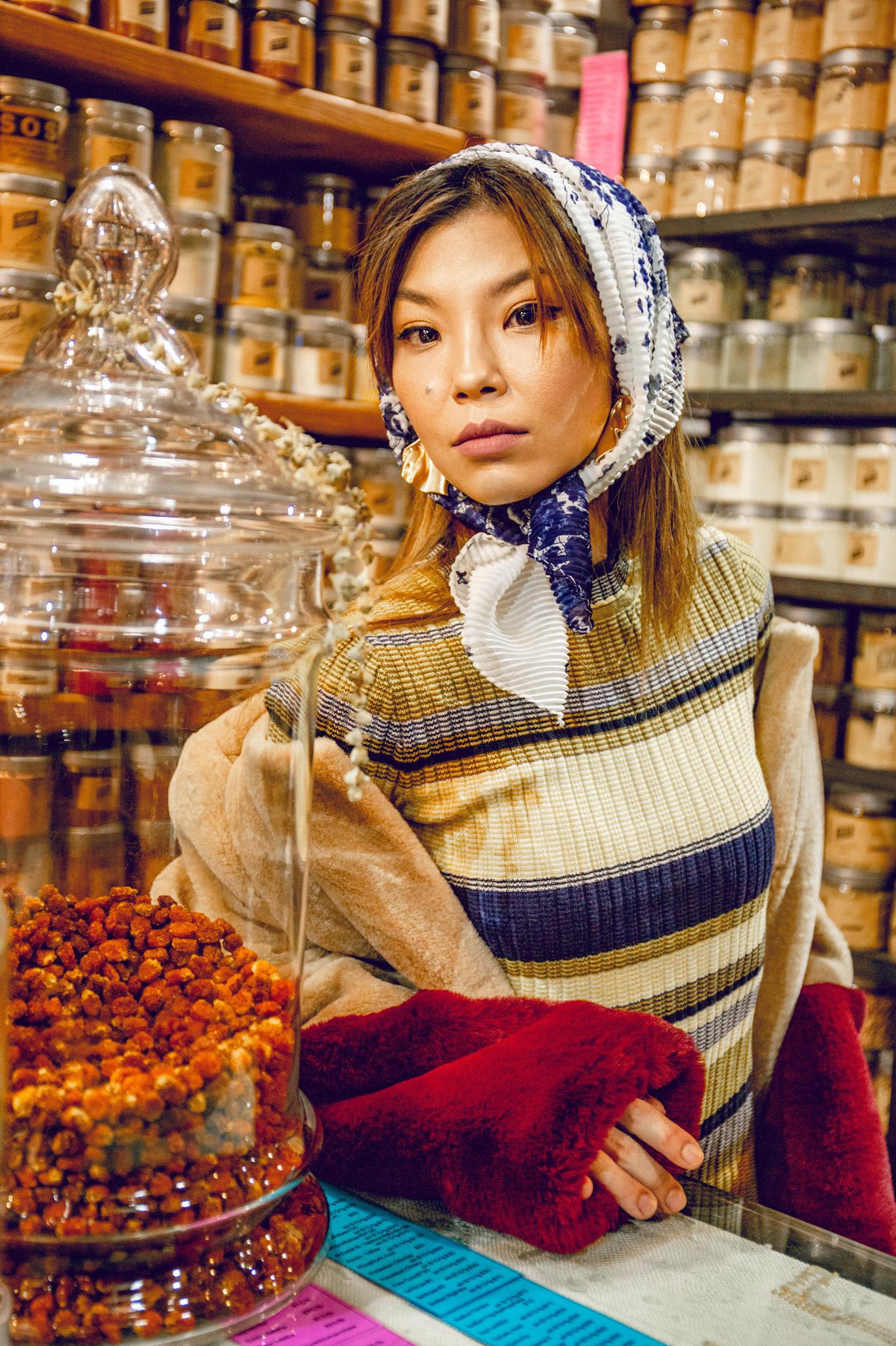 Babushka fashion style