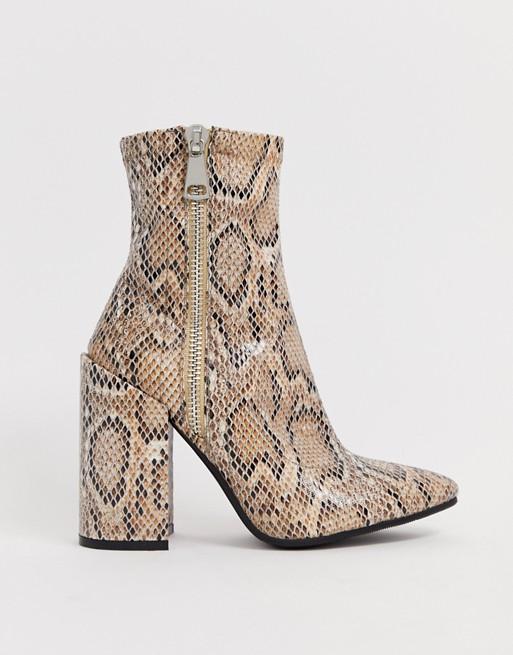 Public Desire snake boots