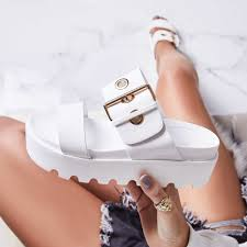 White plaform sandal