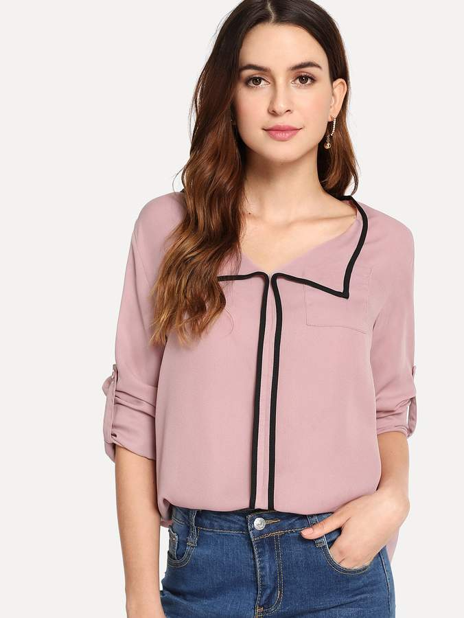 SHEIN pink blouse