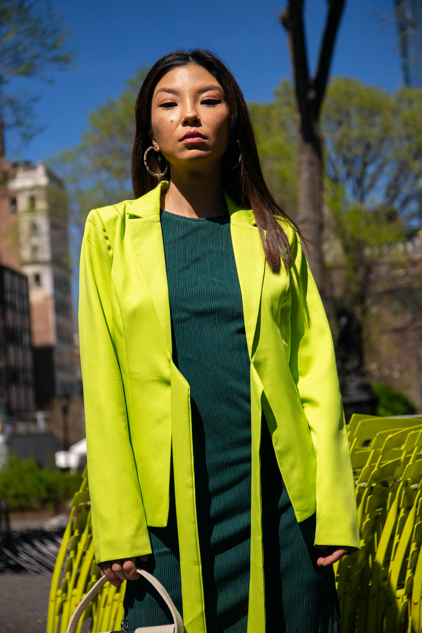 Neon green blazer