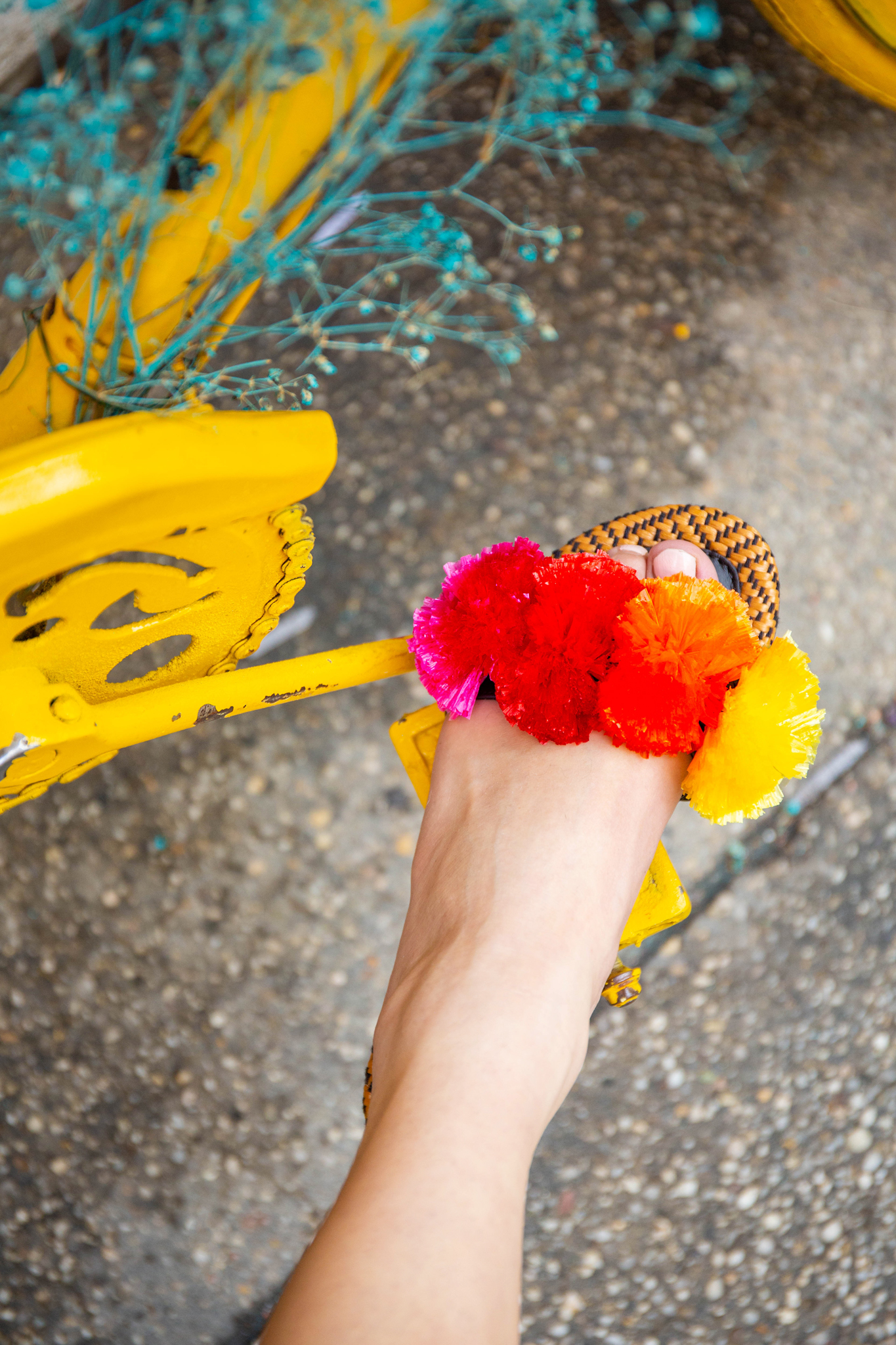 Rainbow summer sandal