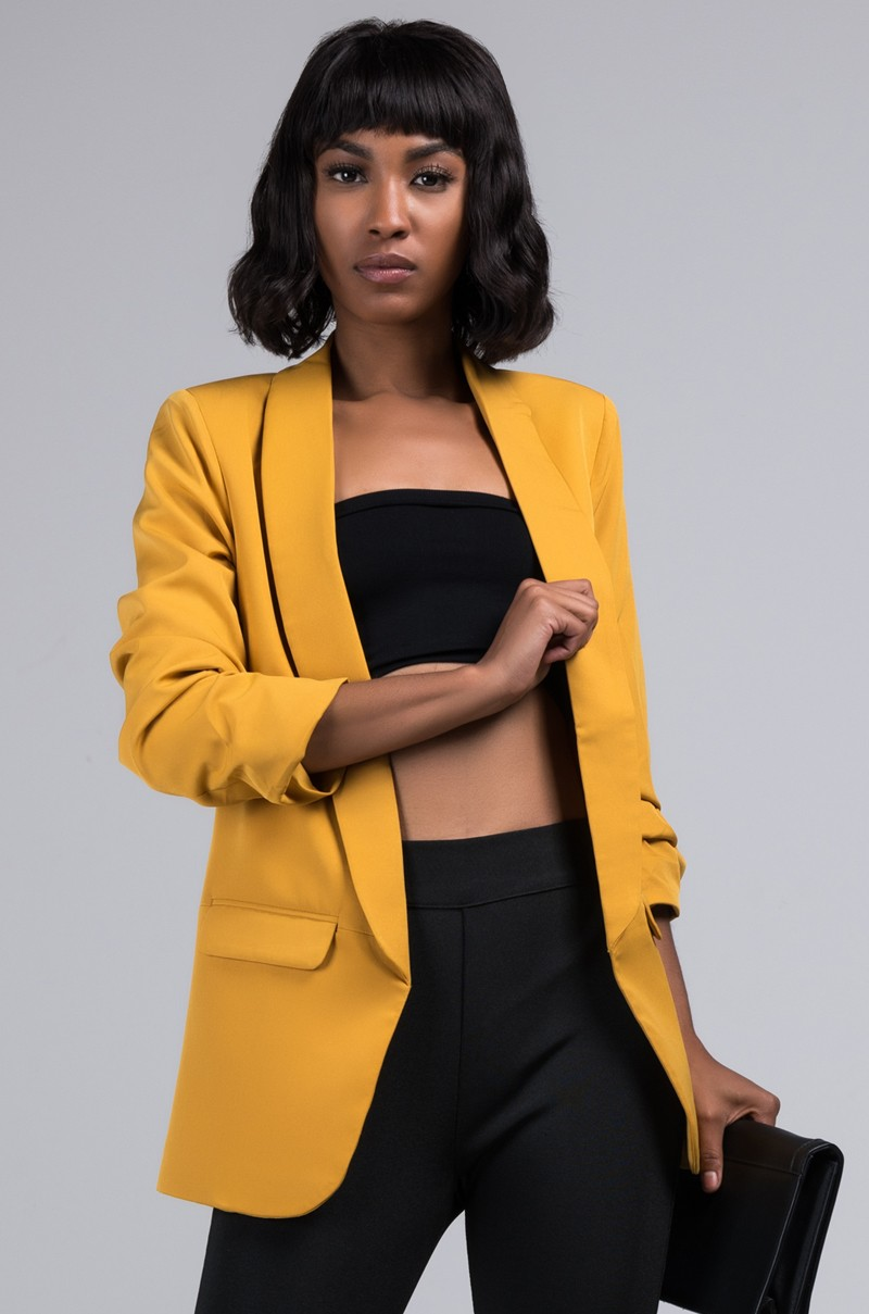 Mustard Yellow blazer