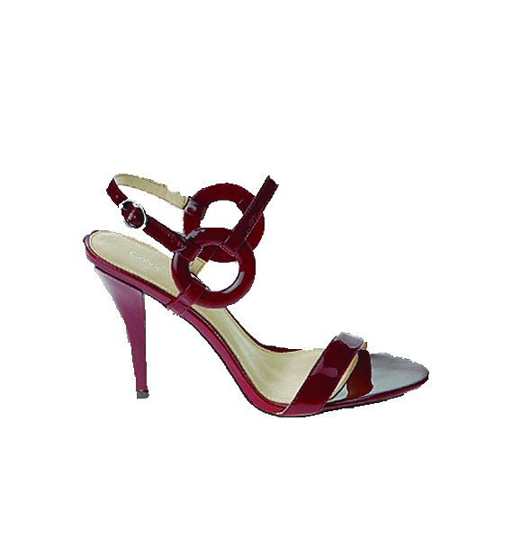 Ruby patent slingbacks