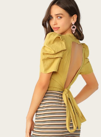 Yellow summer top