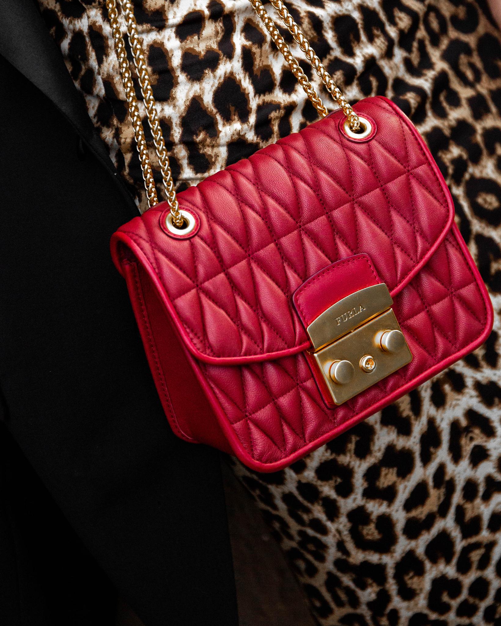 Red Furla Bag