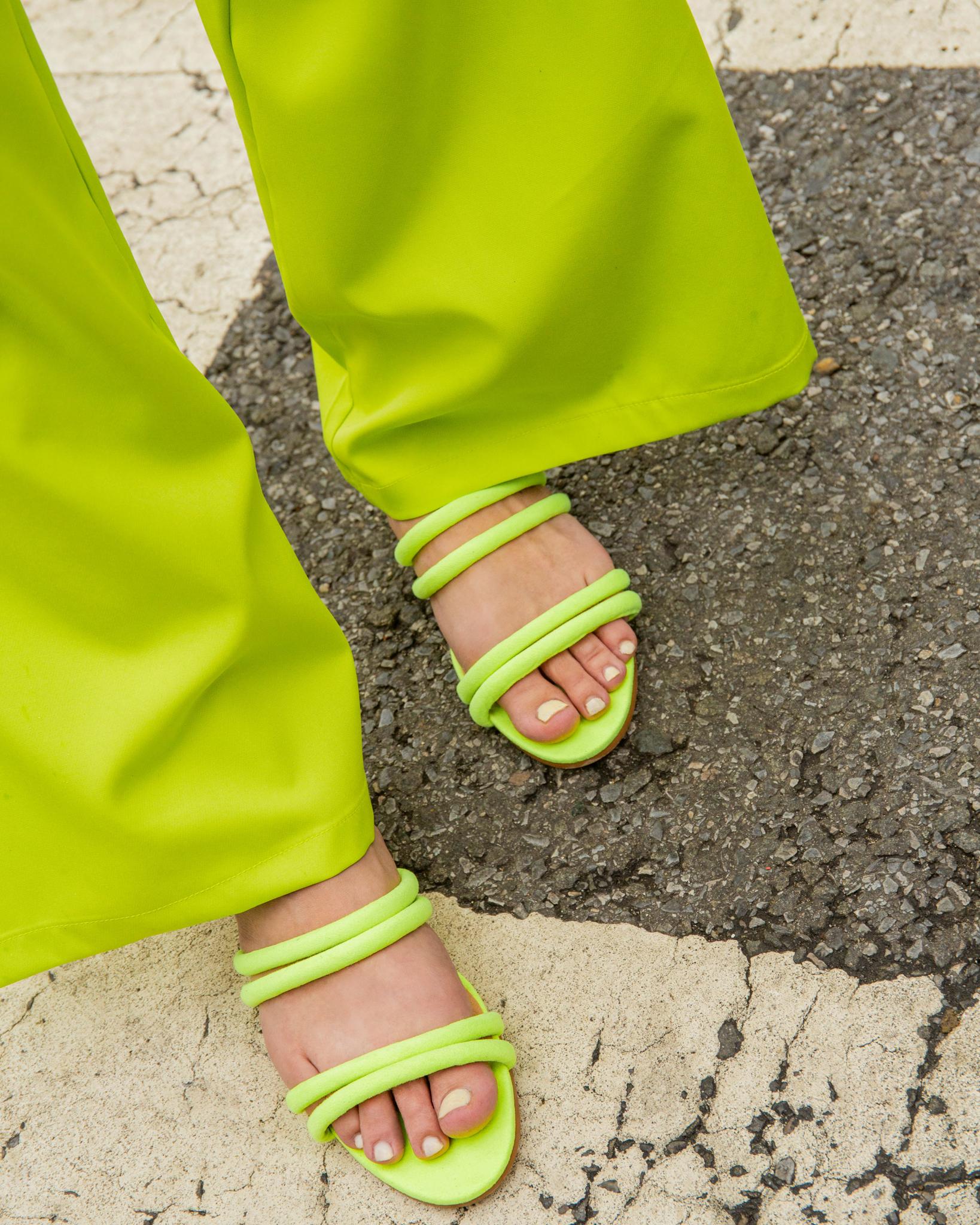 Neon summer sandals