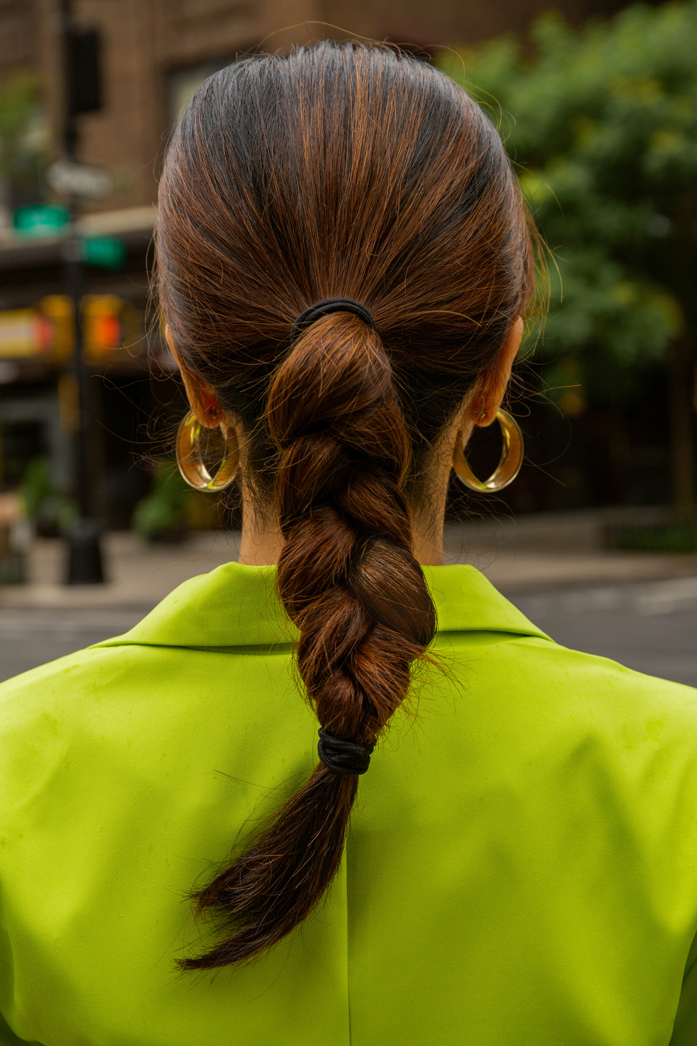 Braided ponytail style