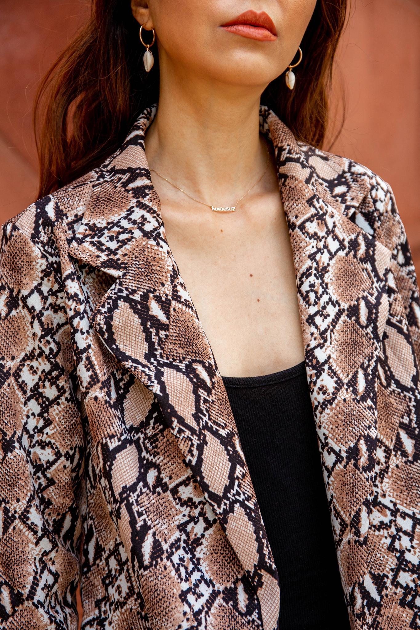 Snake Print blazer