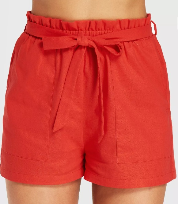 Red Orange Shorts