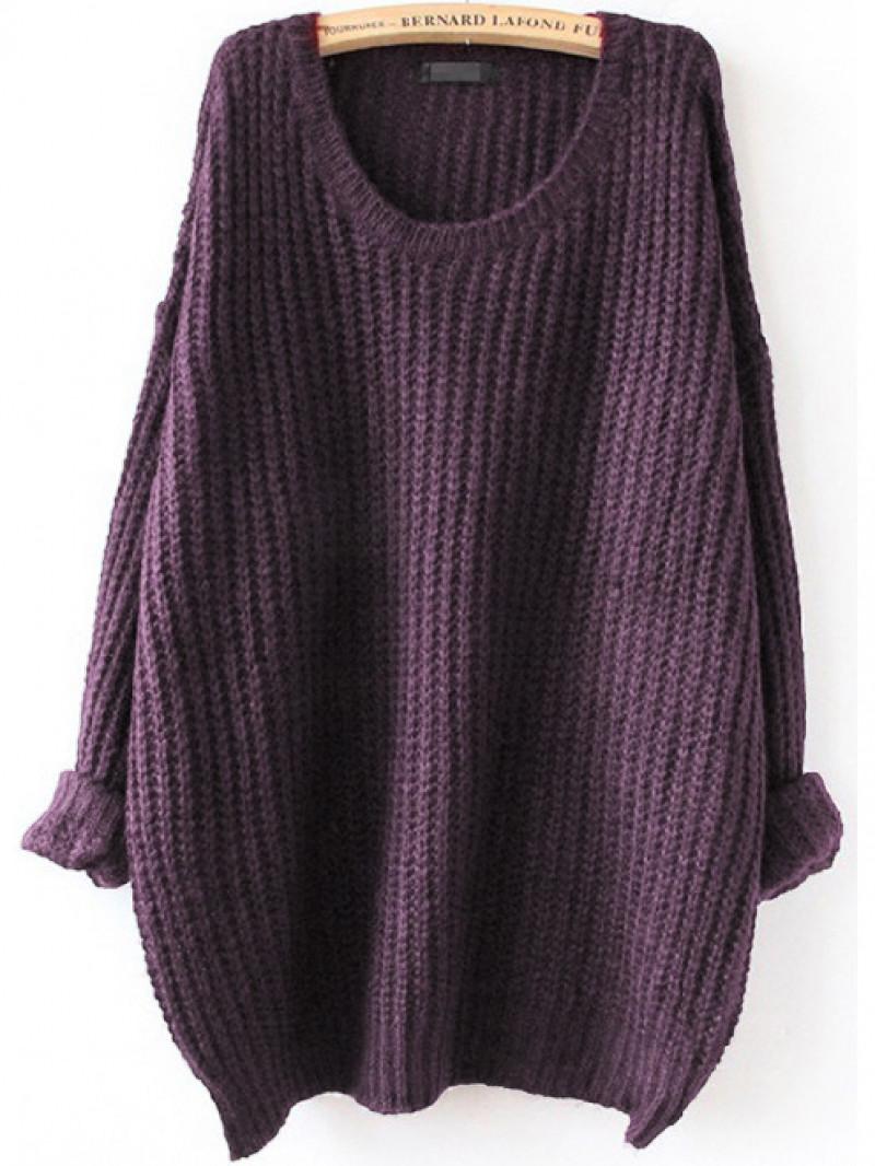 Chunky purple sweater