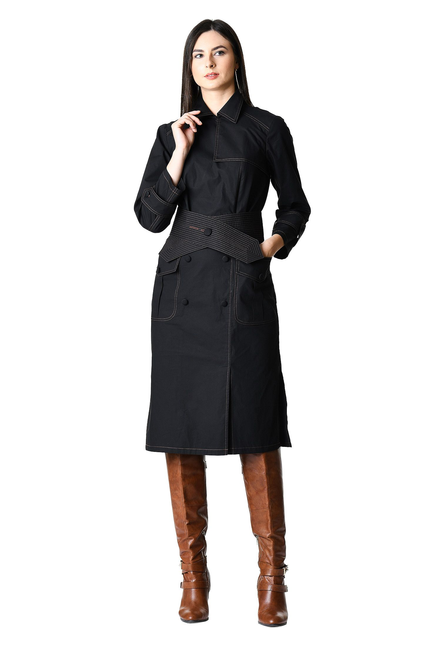Eshakti trench dress