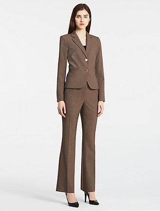 Brown Power Suit
