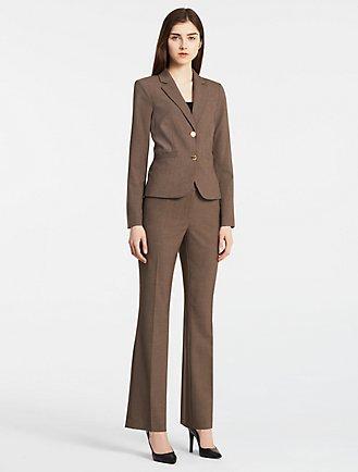Brown Power Suit