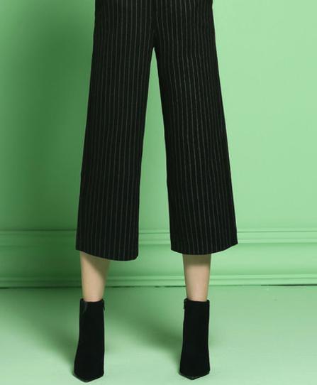Pinstripe wide leg