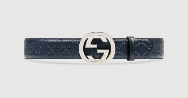 Gucci embossed belt