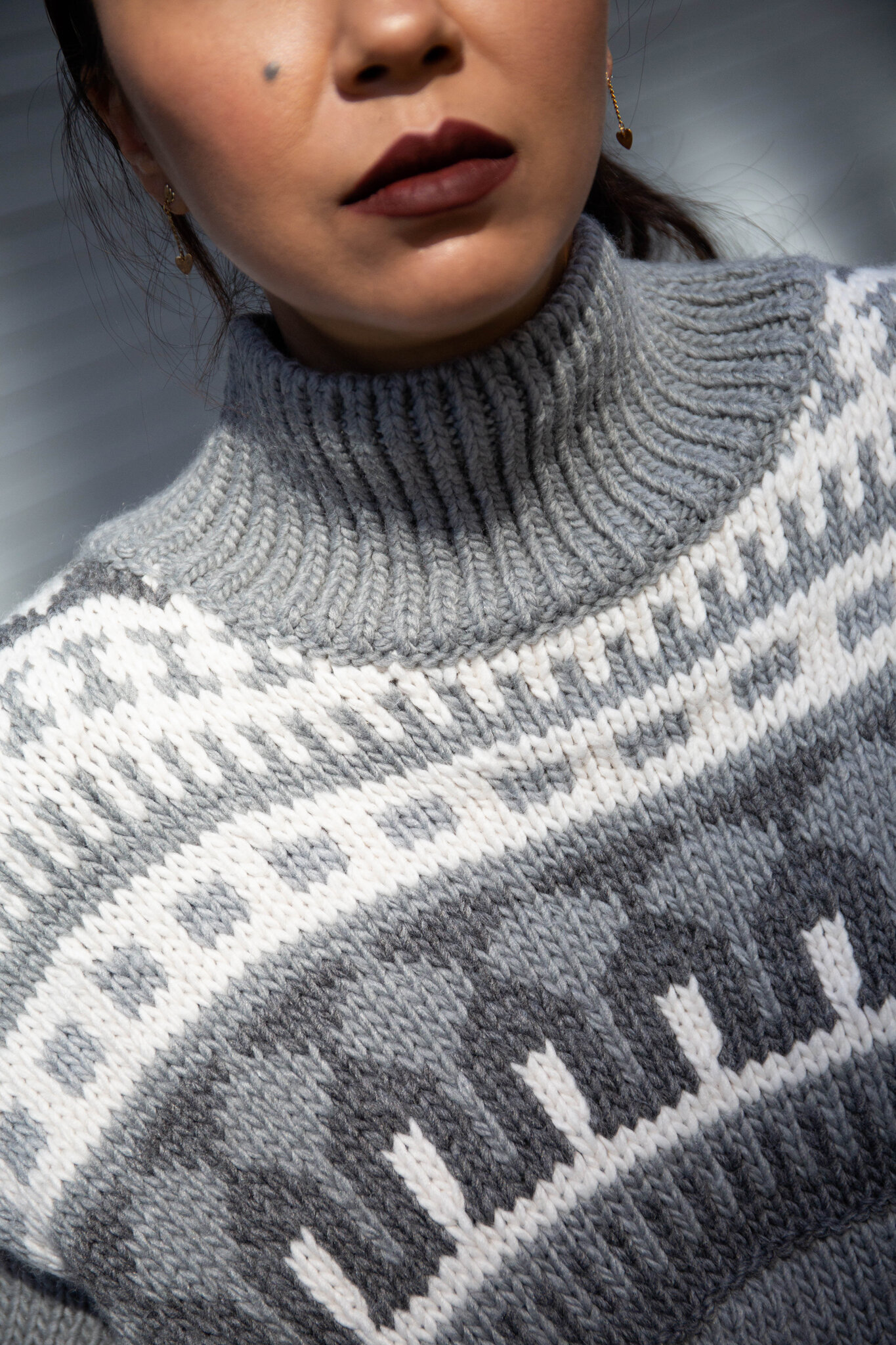 Jacquard-knit sweater