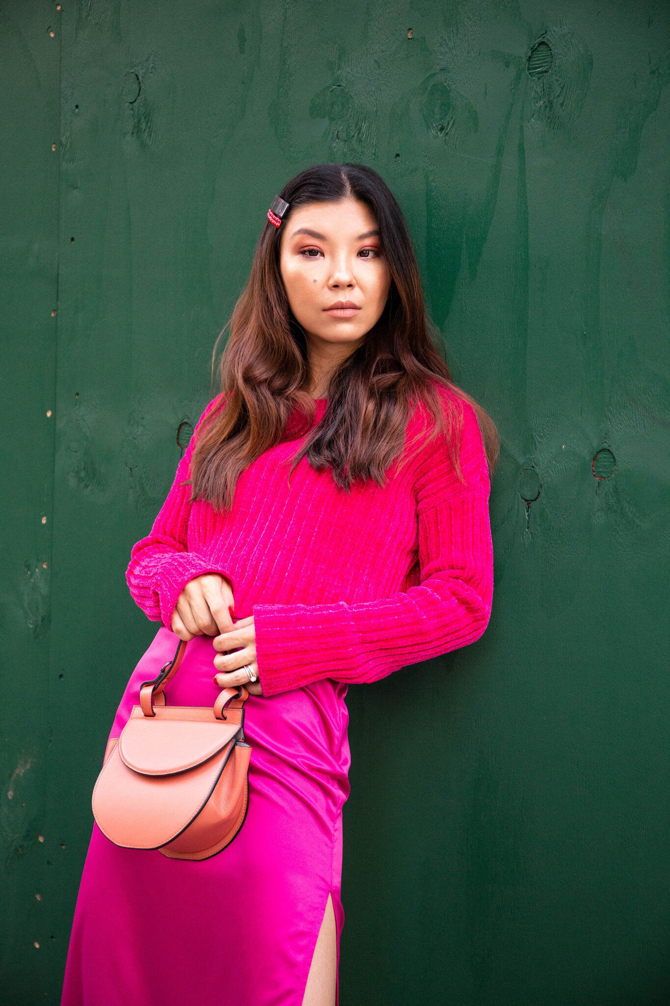 Hot pink outfit