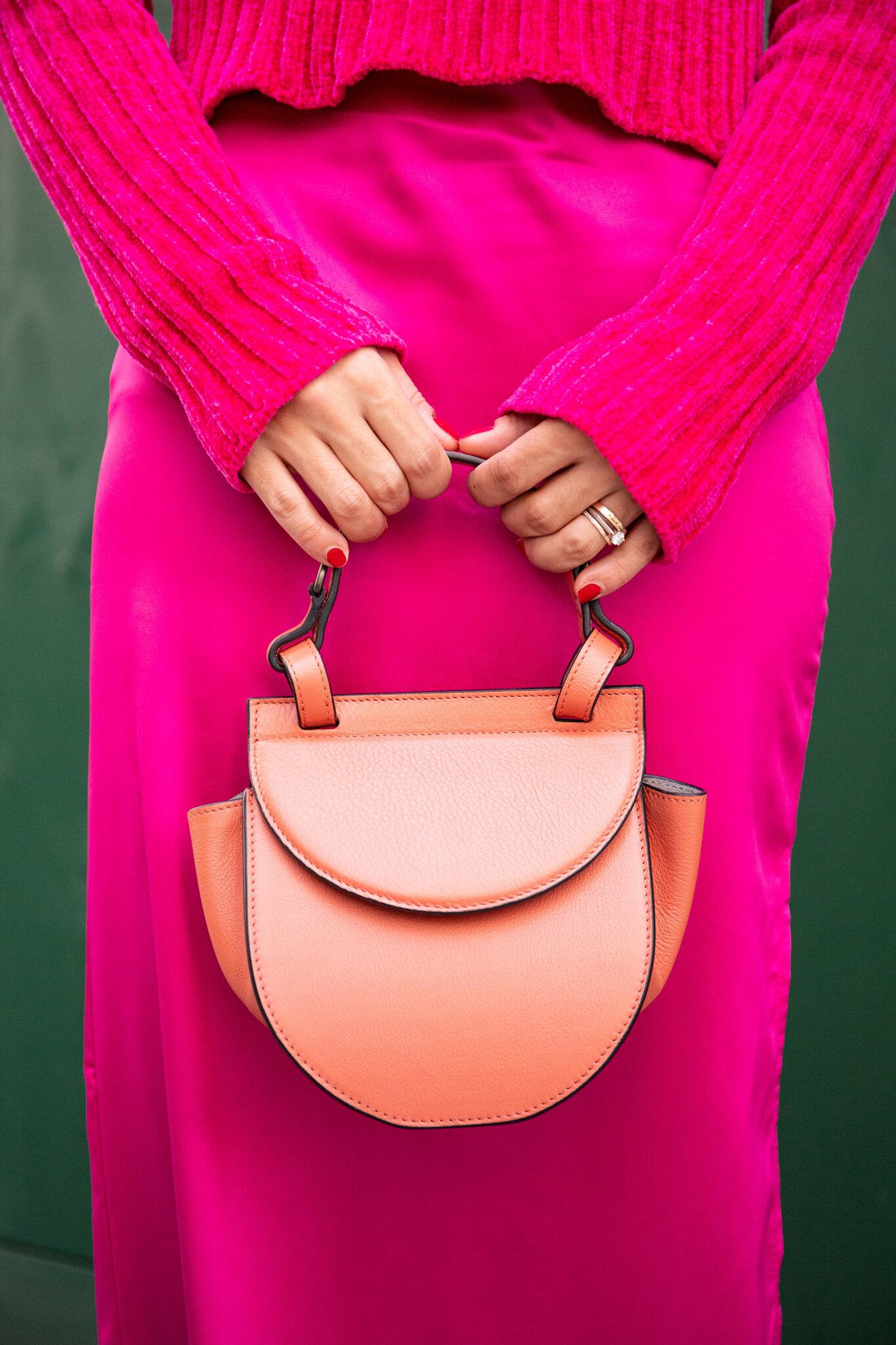 Salmon pink bag