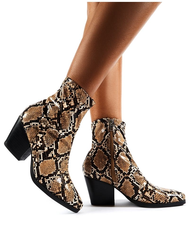 Snake skin boots