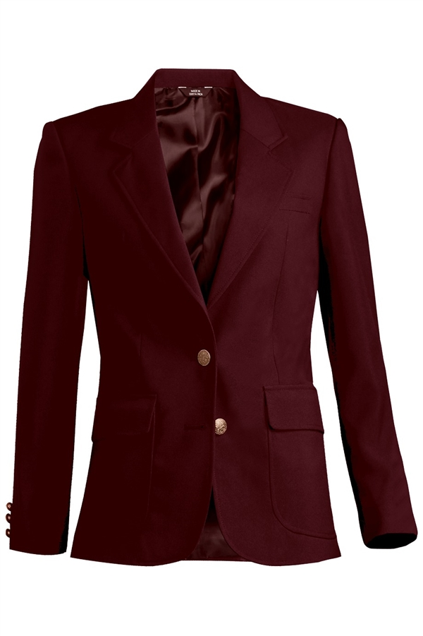 Burgundy wool blazer