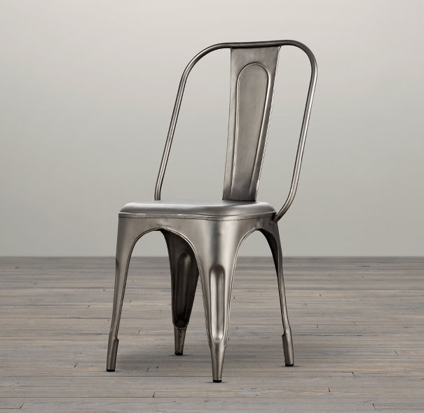 I have had my eye on some bistro chairs like this for awhile and Restoration Hardware has a great deal on them right now.