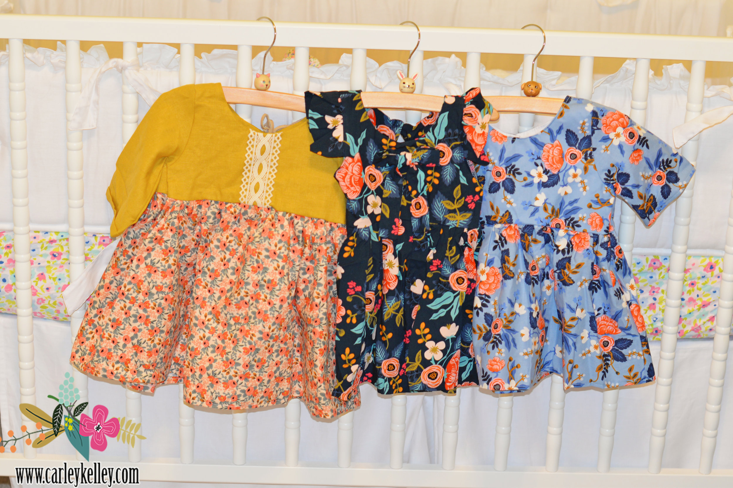 The sweetest Rifle Paper dresses from Peyton's Lane on Etsy that I got fro Lucy Mae. They are currently sold out but she is restocking in September.