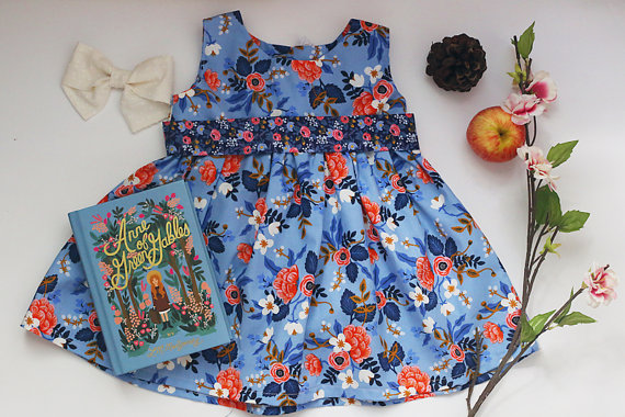 I am pretty sure Lucy needs this dress too. I know she wants to wear Rifle Paper       everyday :) This dress is from  Little Lottie Clothing