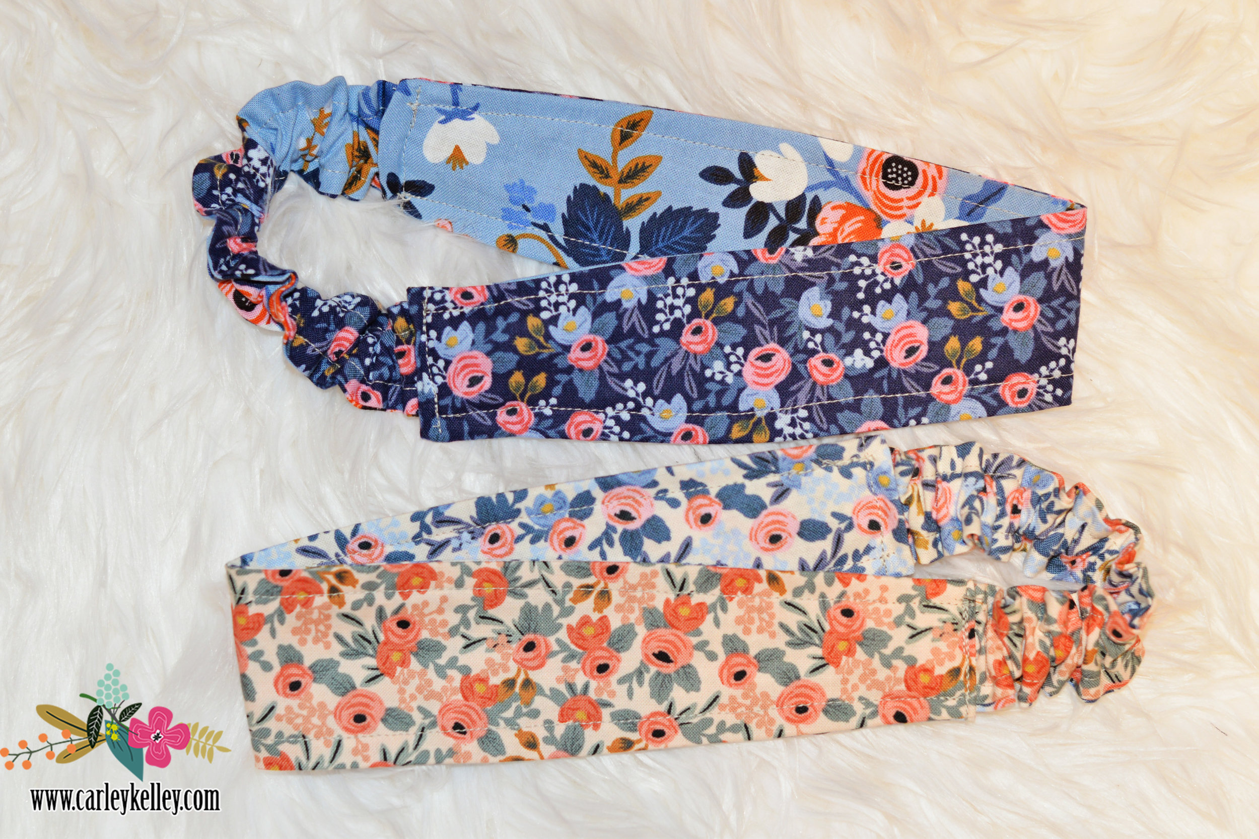Some fun  Rifle Paper reversible headbands  made by yours truly