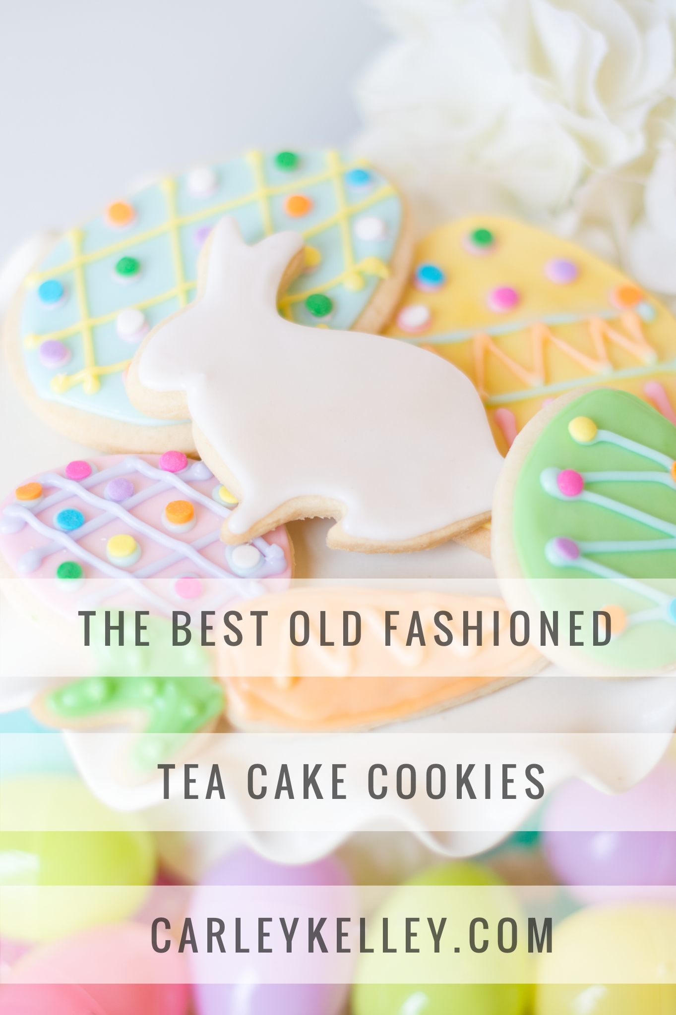 Old Fashioned Tea Cake Cookies @ www.careleykelley.com