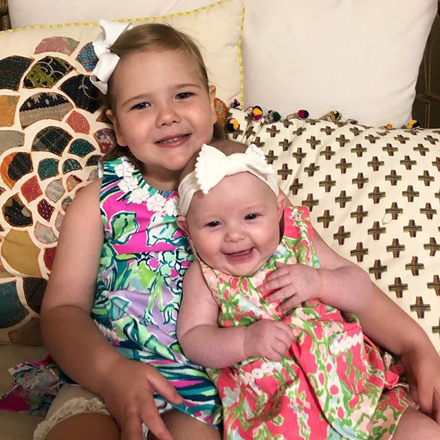 Sunday best 💗 . . . #summerinlilly #church #girlmom #lillypulitzer #sundaybest