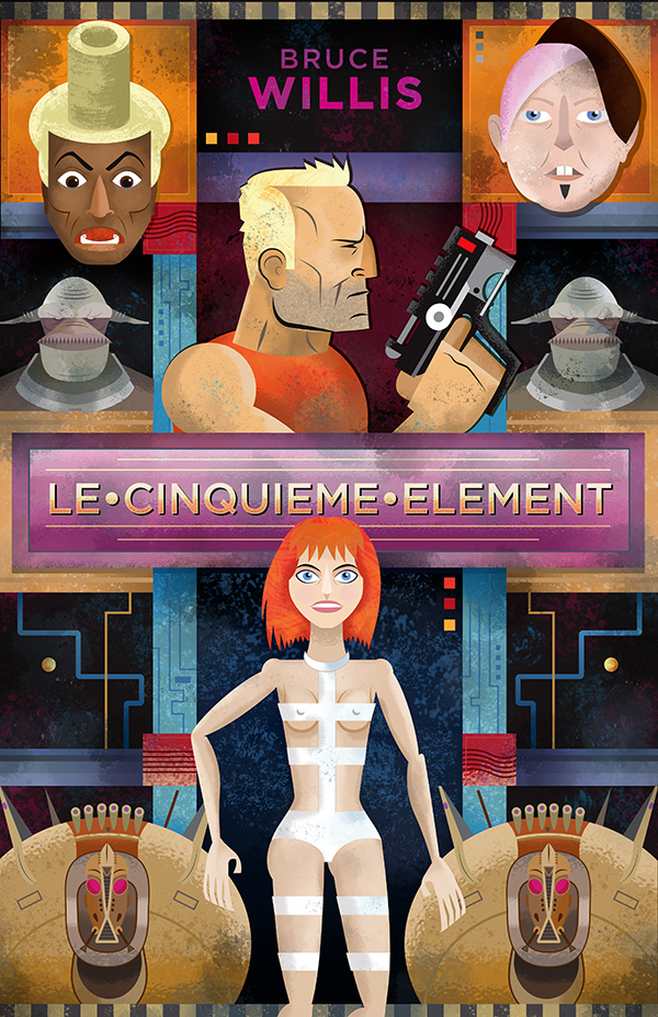 Fifth Element  My piece for the Bruce Willis themed art show for Steel City Secret Cinema