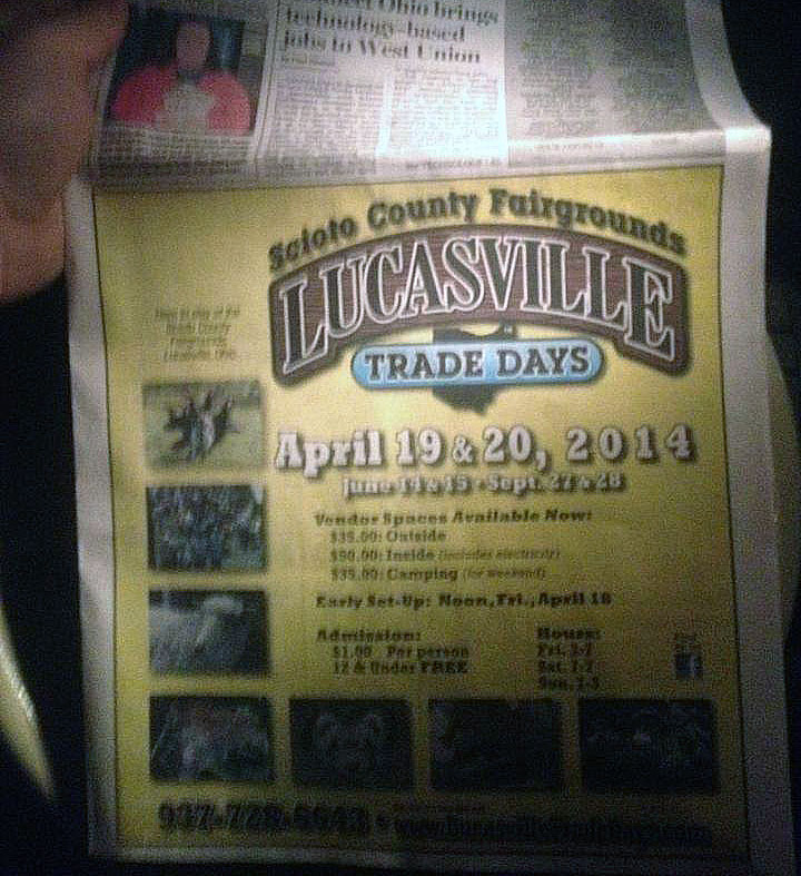 A late-night blurry image of the front page of West Union's People's Defender newspaper.