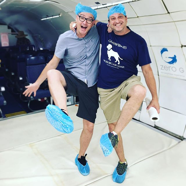 "The band is back together, we're keeping it ""cleanroom"" clean aboard G Force One today!"