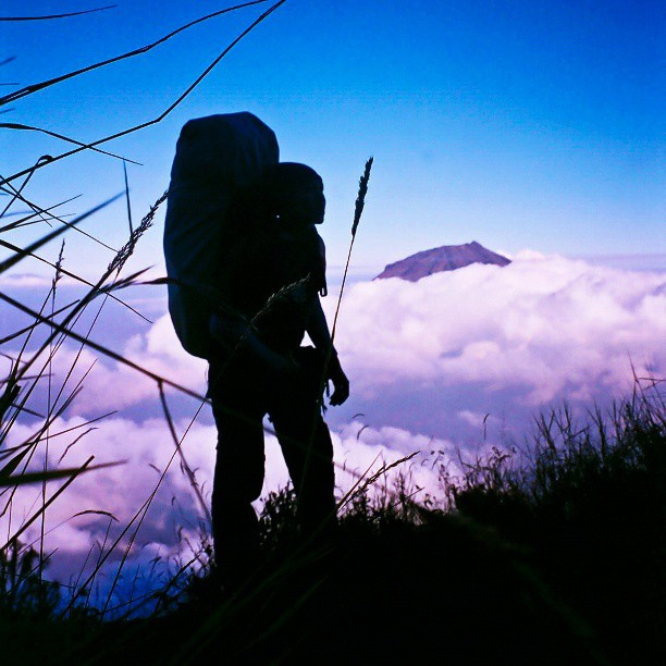 Hiking .  via Flickr user alfa_sukatmo