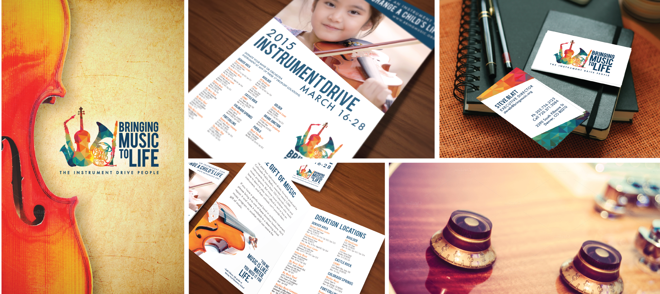 Bringing Music to Life Branding Logo Poster and Brochure