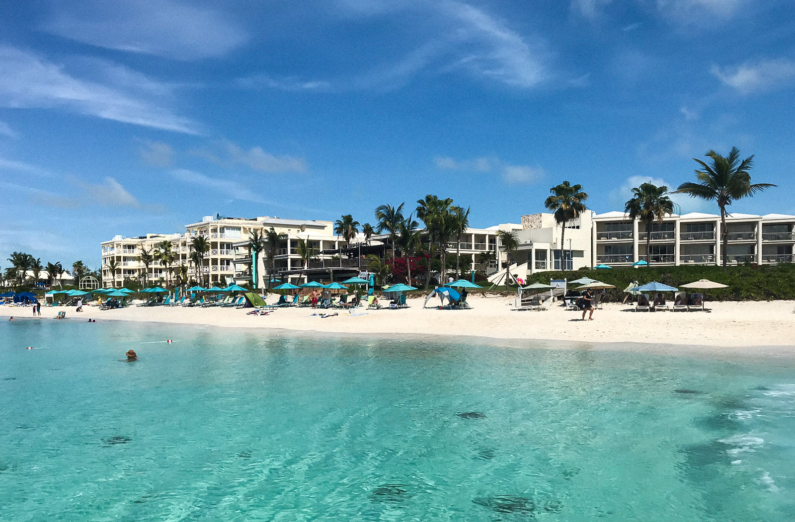 #5 Boutique Resorts - Back at the beach, snorkeling is quite common directly in front of the boutique resort, Coral Gardens on Grace Bay.This resort is also home to Provo's popular beachfront bar and restaurant: Somewhere Cafe & Lounge.