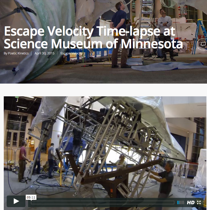 Escape Velocity at Science Museum of Minnesota