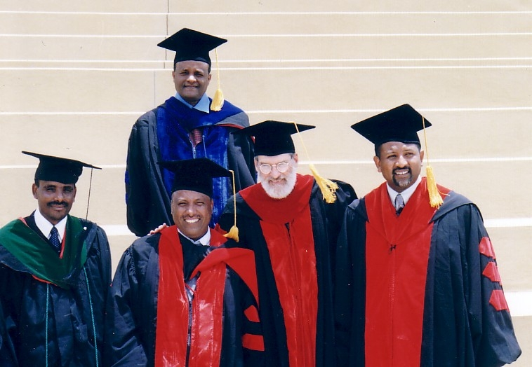 That's Wray, second from the right, with his academic peers in Ethiopia.