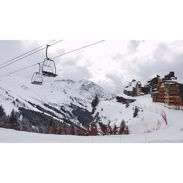 You can see Avoriaz via chair lift... #frenchalps