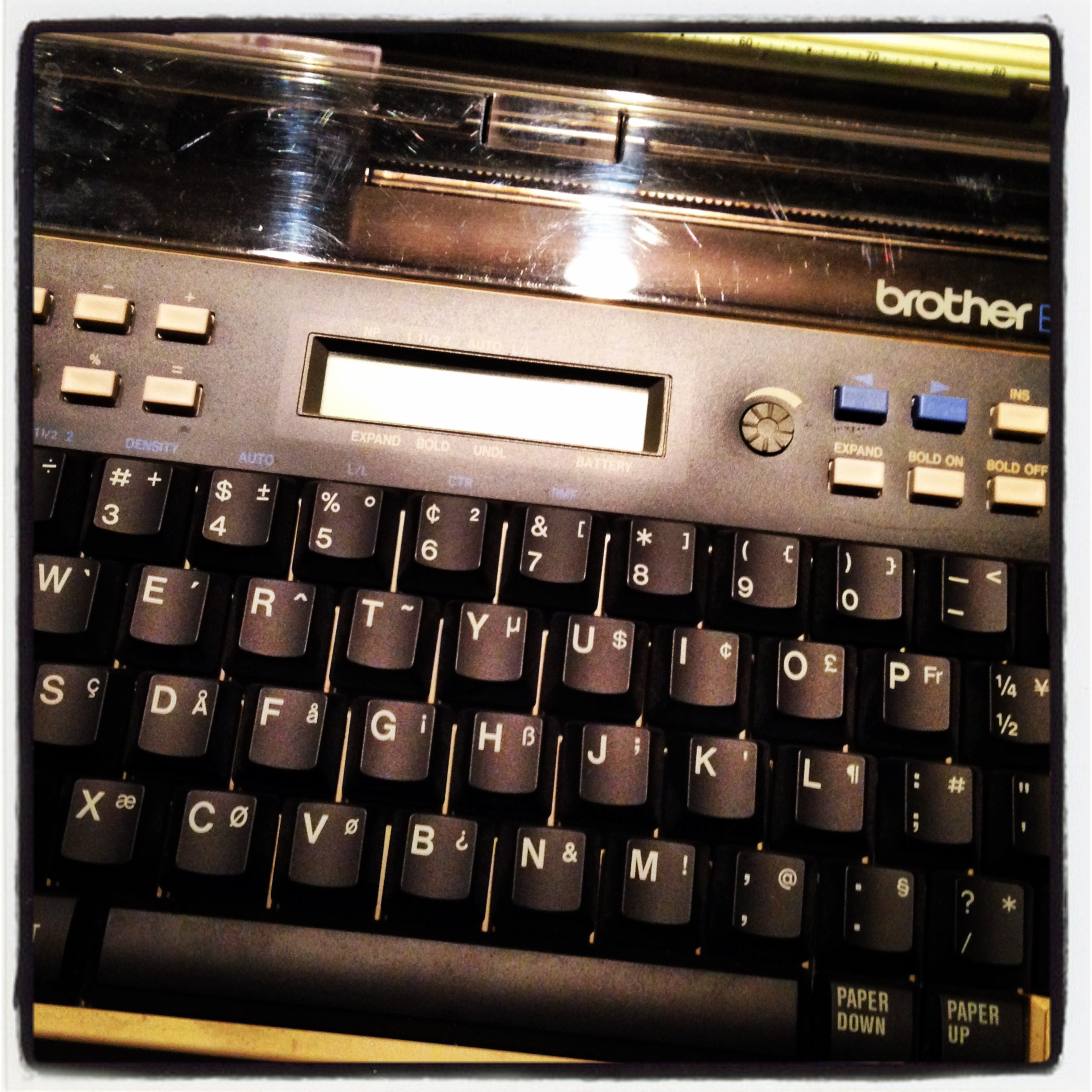 I also just got this sweet 1985 Word Processor, though I haven't quite figured out how to fit it into my workflow yet.