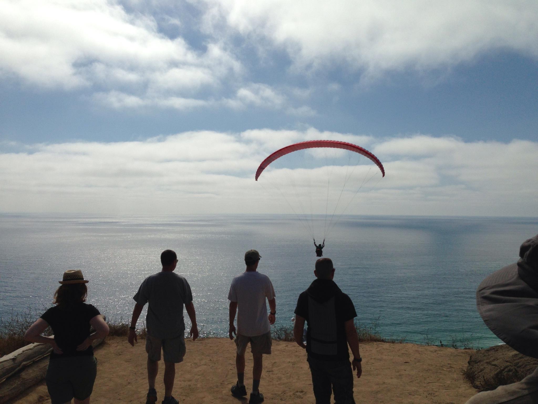 Sunset walks along the La Jolla cliffs with Robert Crais, Kim Stanley Robinson, and Cory Doctorow.