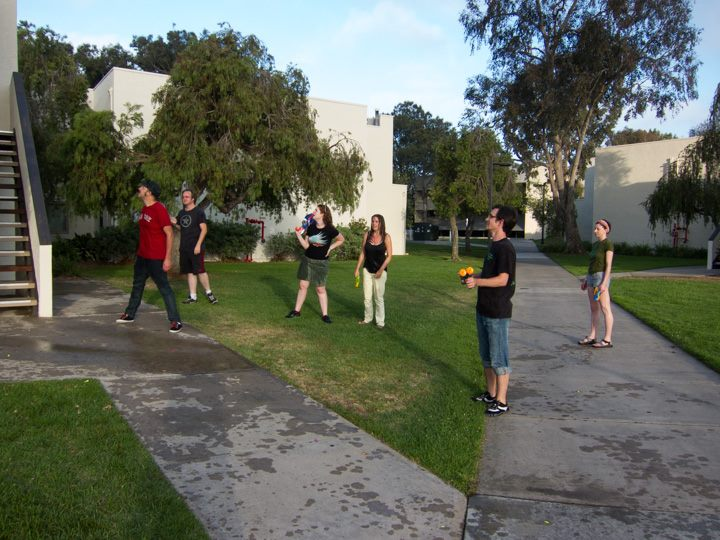 Team Clarion 2013 vs. Robert Crais & Kim Stanley Robinson in The Most Epic Watergun Fight Of All Time