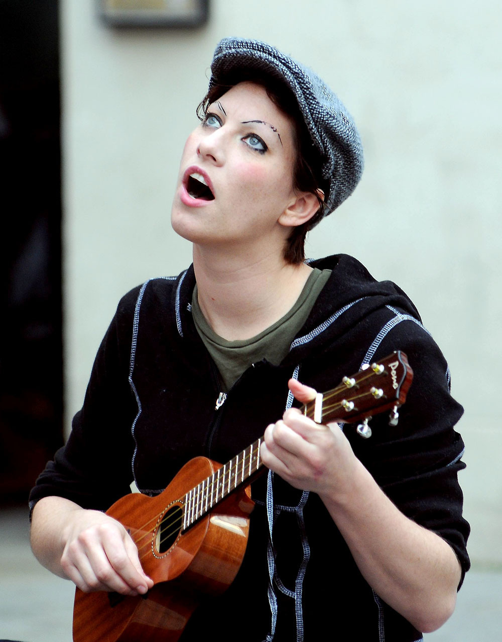 **Exclusive** Amanda Palmer of 'The Dresden Dolls' plays an intimate outdoor gig in Meeting House Square in Temple Bar Dublin, Ireland - 26.09.08.  Credit: (Mandatory): WENN