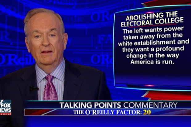 """From """" The O'Reilly Factor ,"""" December 20, 2016."""