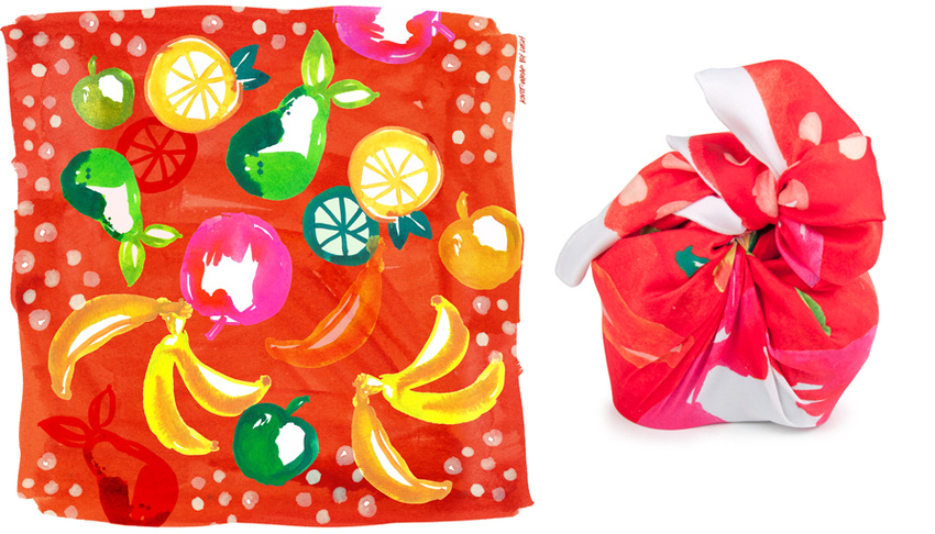 Knot Wrap Design for LUSH Cosmetics