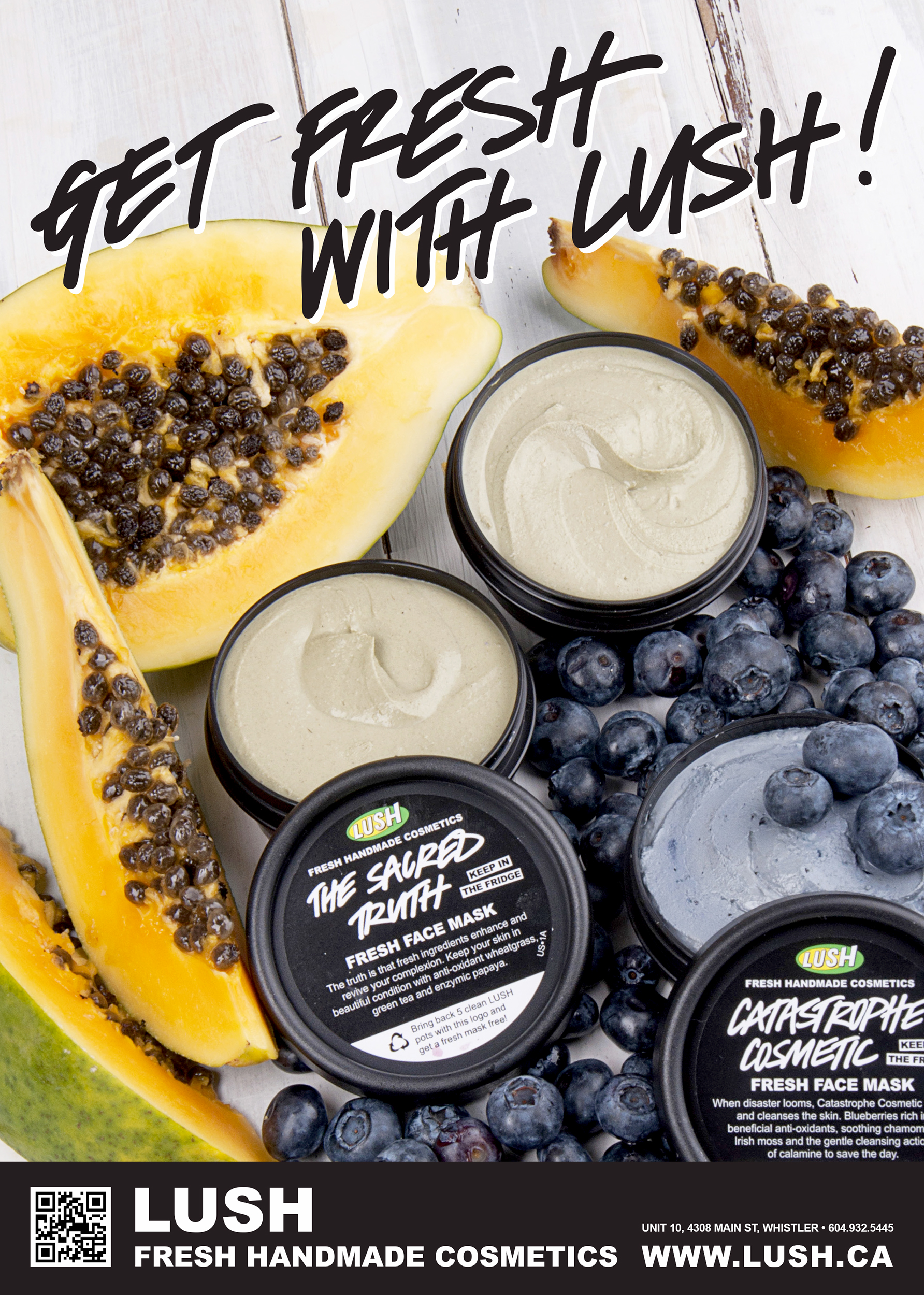 Print Ad for LUSH Cosmetics