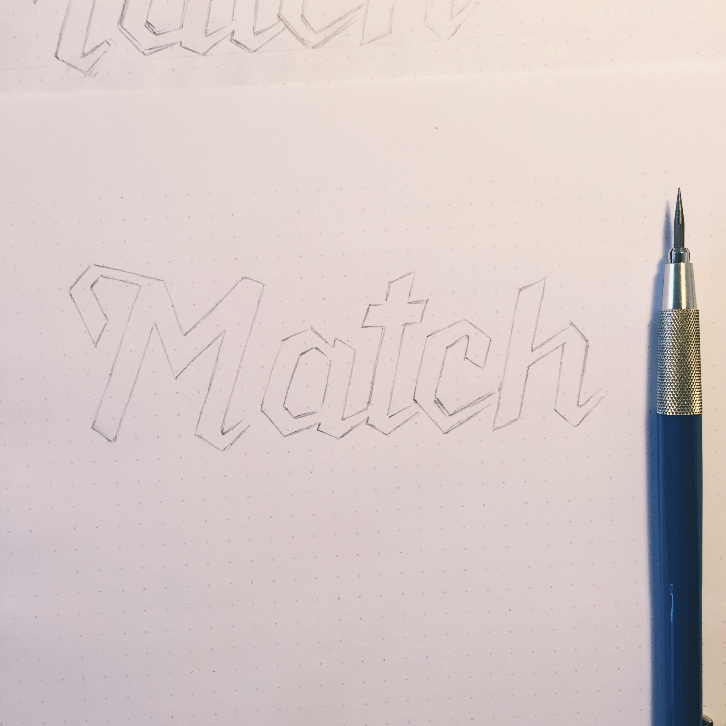 Refining the lettering before digitizing